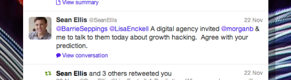 Sean Ellis, Growth Hacking, twitter